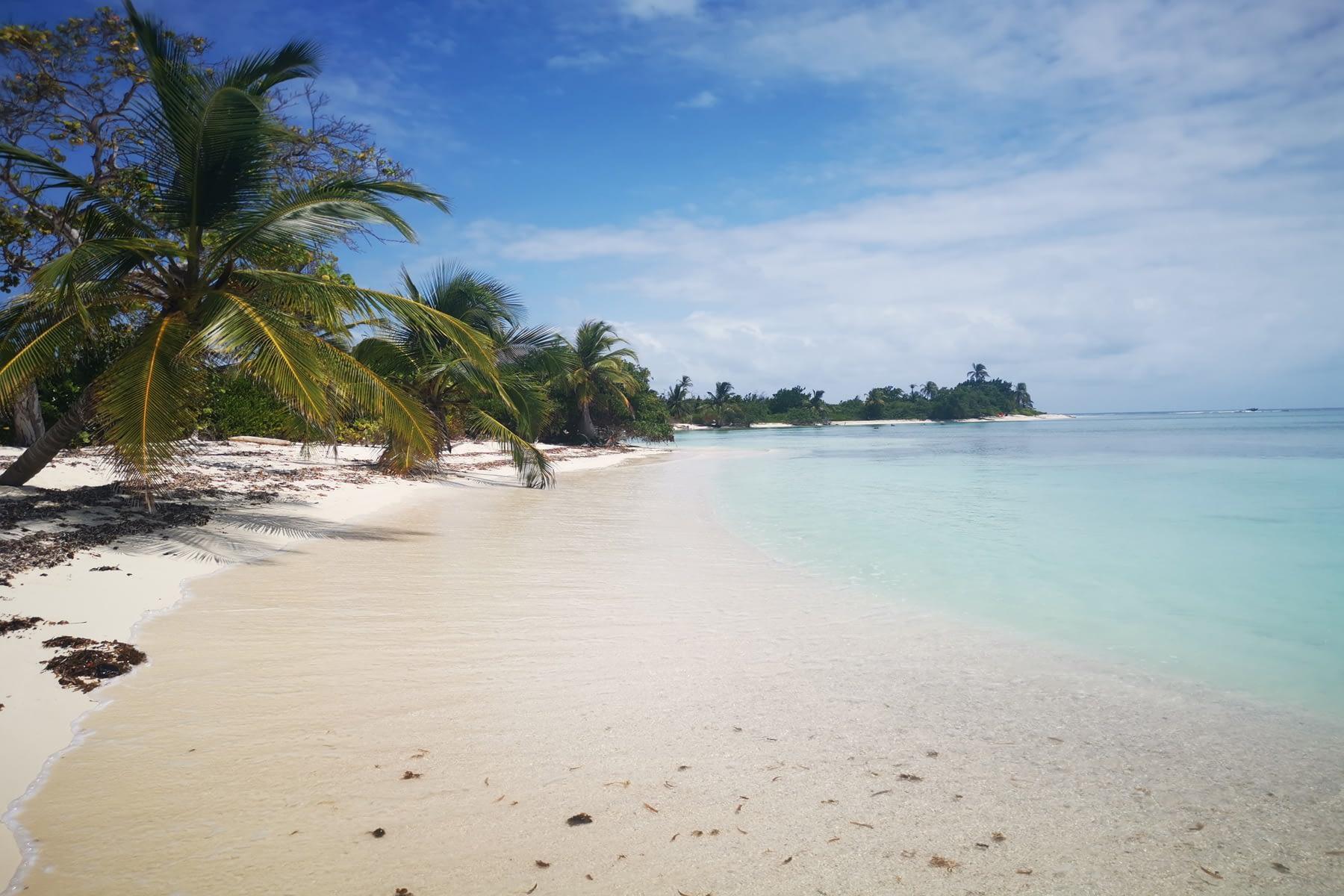 Vista lateral de la isla Masargandub