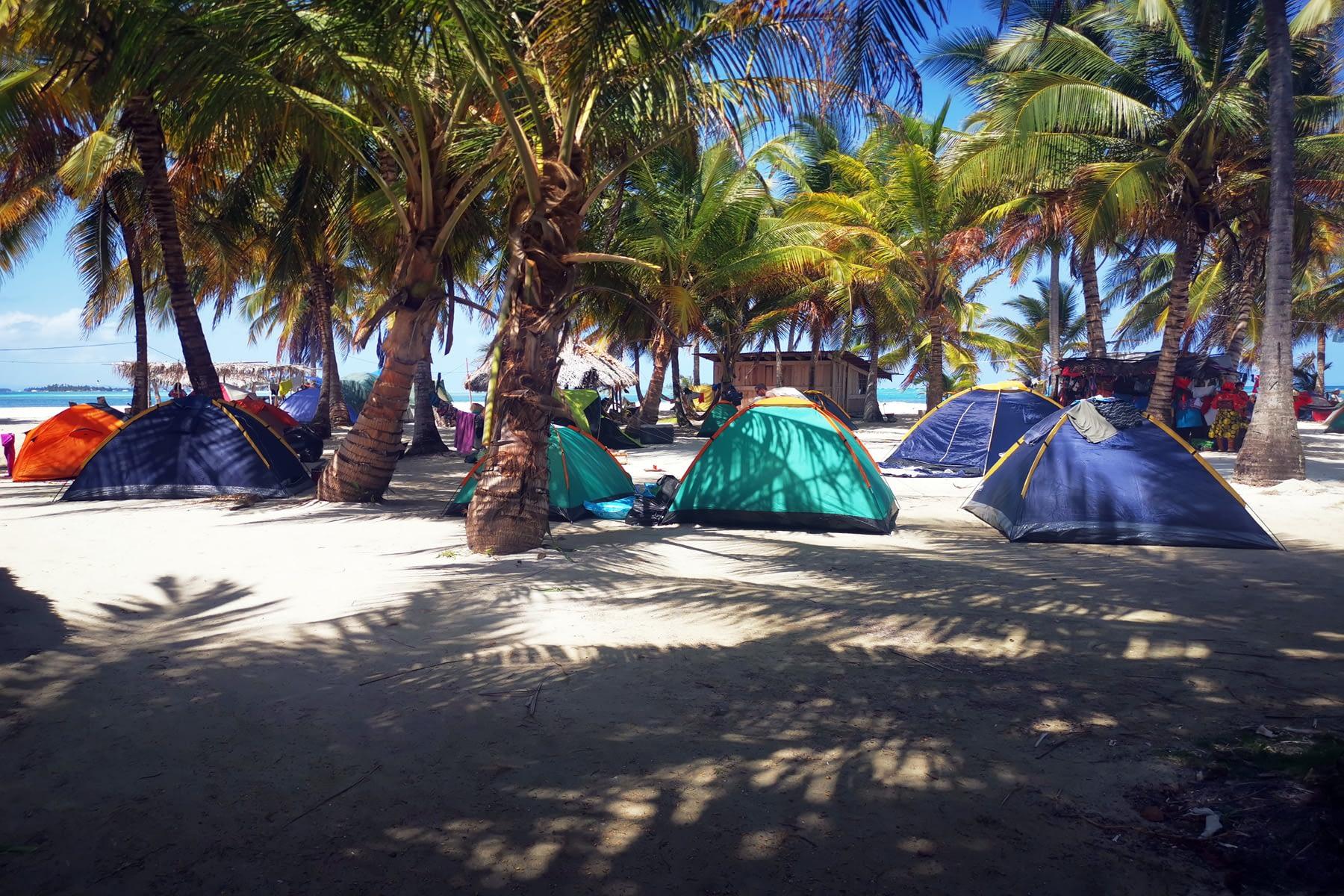 Camping en la isla Masargandub