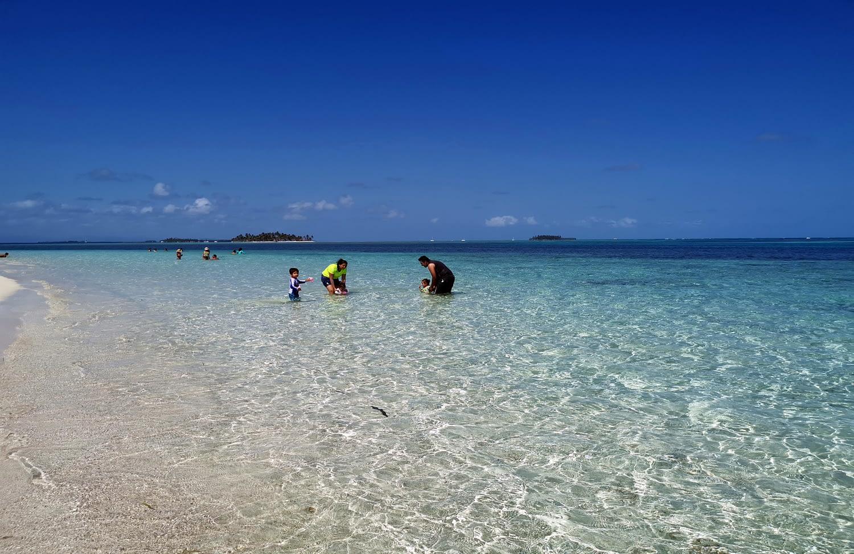 Playa en la isla Masargandub
