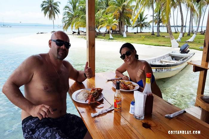 Almuerzo en la Isla Banedub Bibbi