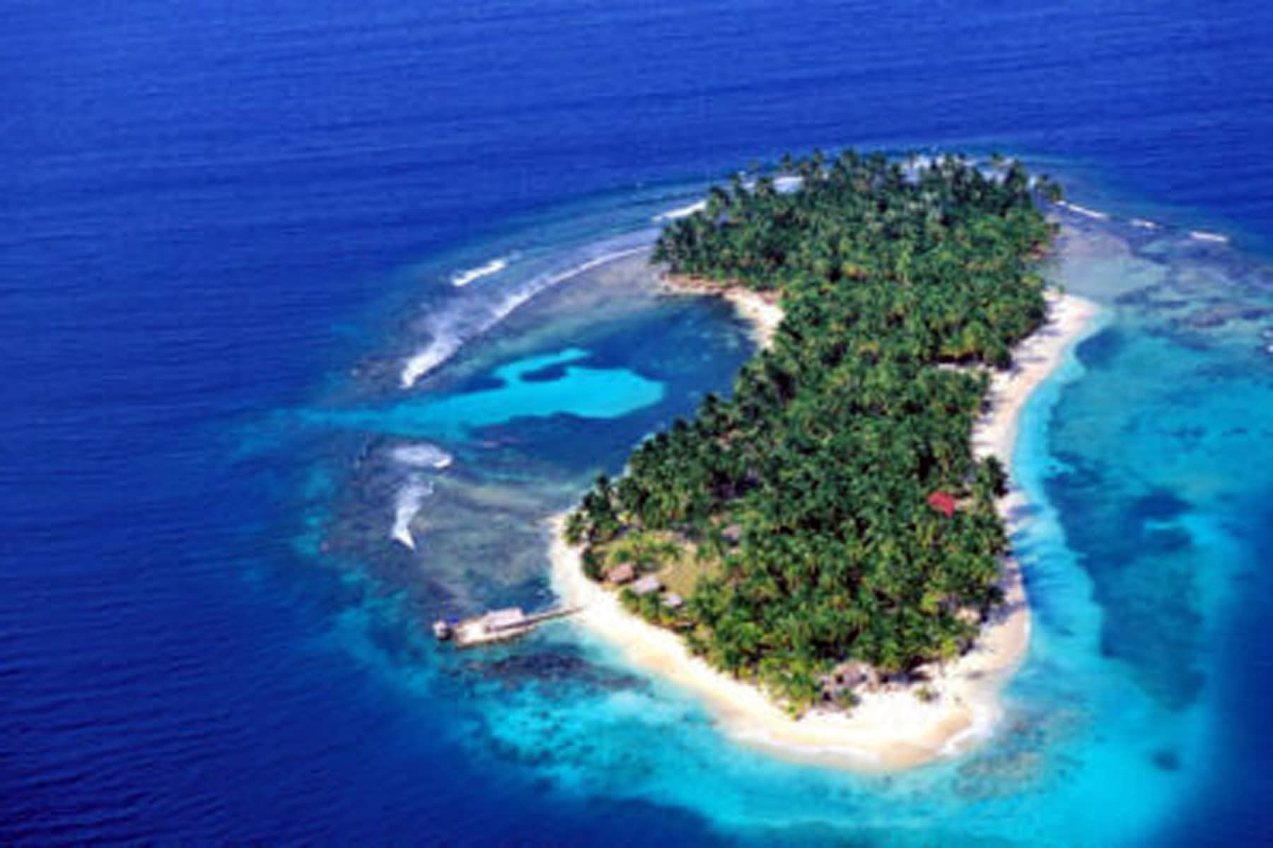 Vista aérea de la isla Narasgandub Bibbi
